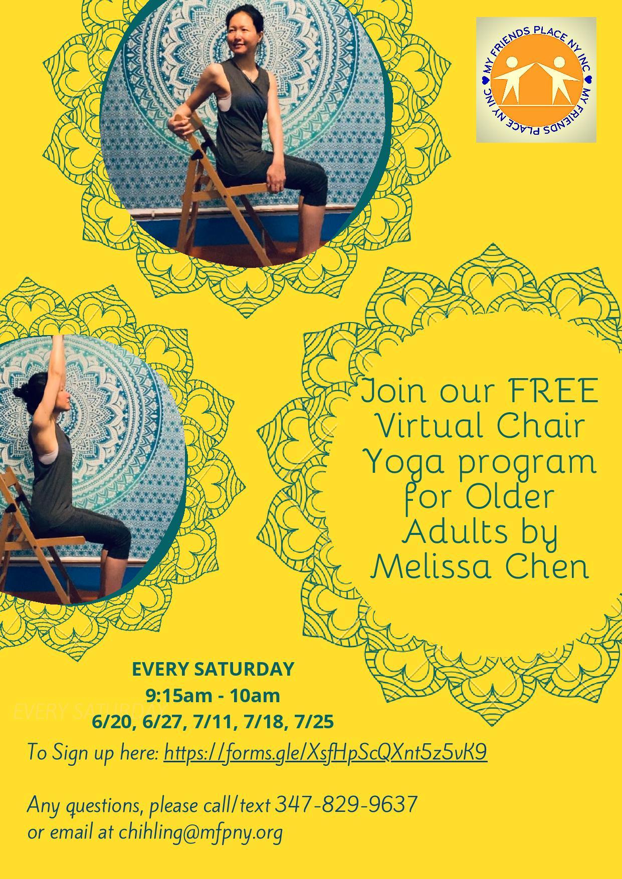 chair yoga flyer